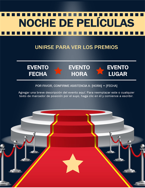Folleto de evento para espectáculo de premios