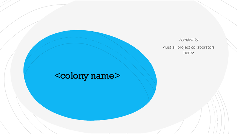 Crear su propia colonia