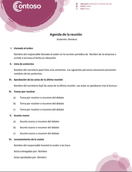 Agenda de conjunto rosa