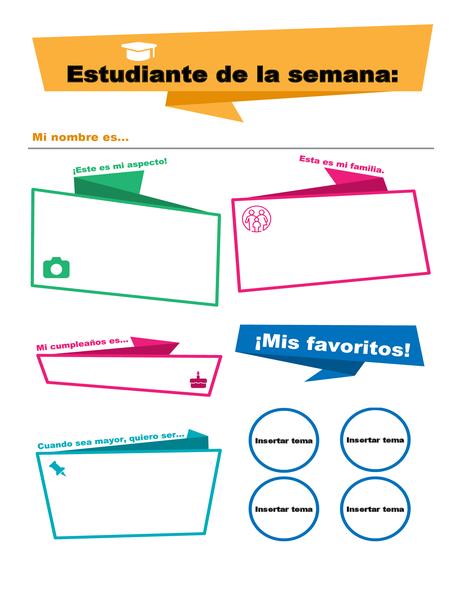 Cartel para presentación de estudiantes