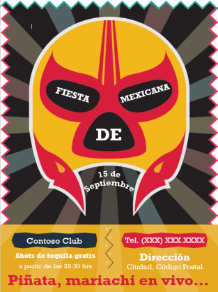 Invitación a evento (diseño de máscara)