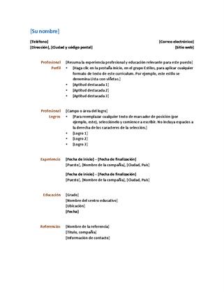 Currículum (diseño funcional)