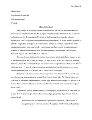Documento de investigación de estilo MLA