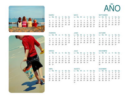 Calendario fotográfico familiar