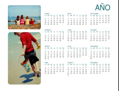 Calendario fotográfico familiar