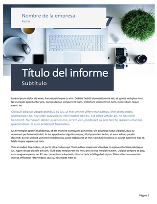 Informe de negocios (tema de origen)