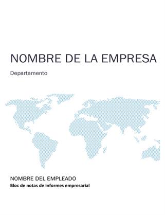 Kit de bloc de notas de informe de negocios