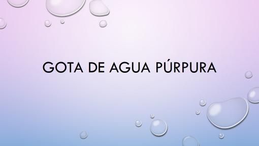Gota de agua púrpura