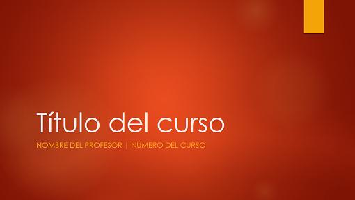 Introducción al curso académico (pantalla panorámica)