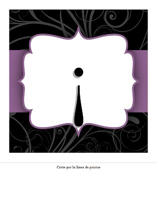 Pancarta de aniversario (diseño con cinta púrpura)
