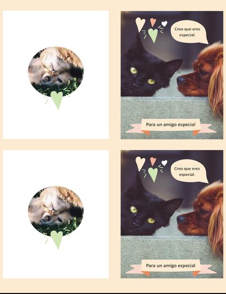 Tarjeta de gatitos y perritos para cualquier día