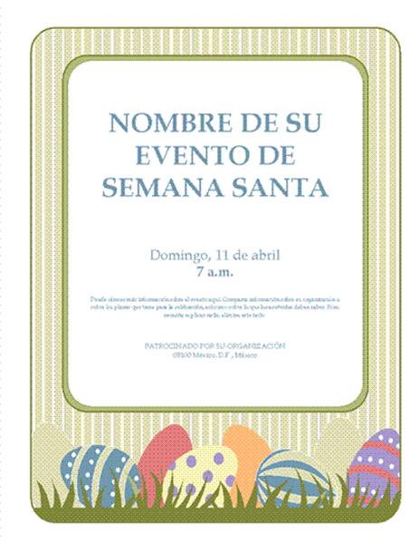 Prospecto para evento de Semana Santa (con huevos de Pascua)