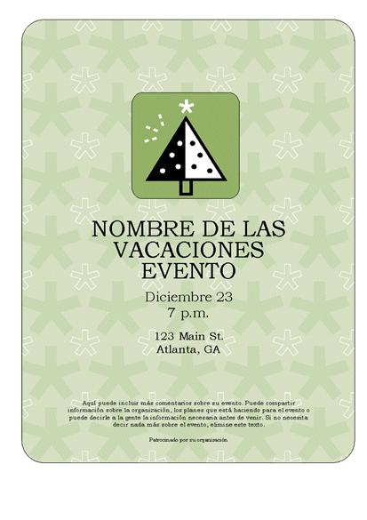 Prospecto de eventos de vacaciones (con árbol verde)