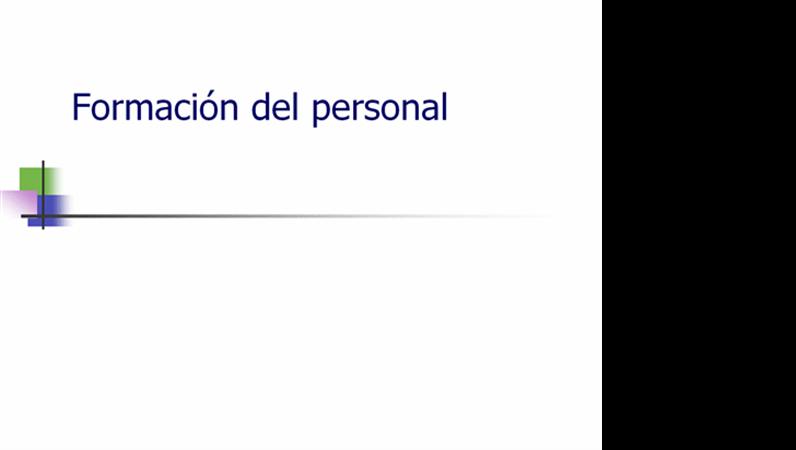 Presentación de cursos para personal