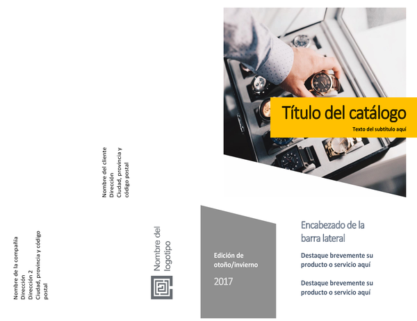 Catálogo de productos (diseño de formularios, doblado horizontalmente, 8 páginas)