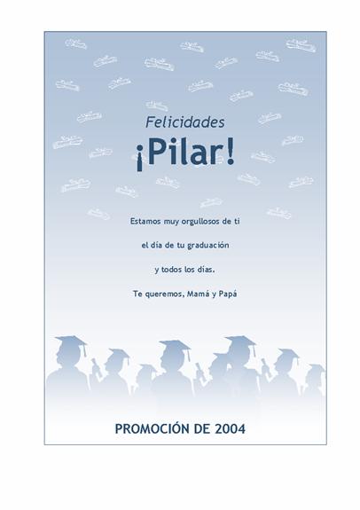Prospecto de felicitación por graduación