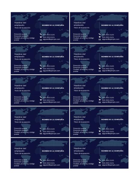Tarjeta de presentación con mapa