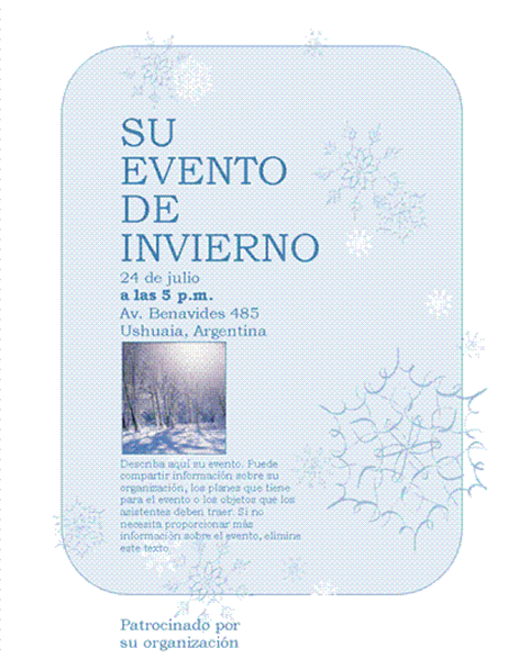 Prospecto de eventos de invierno