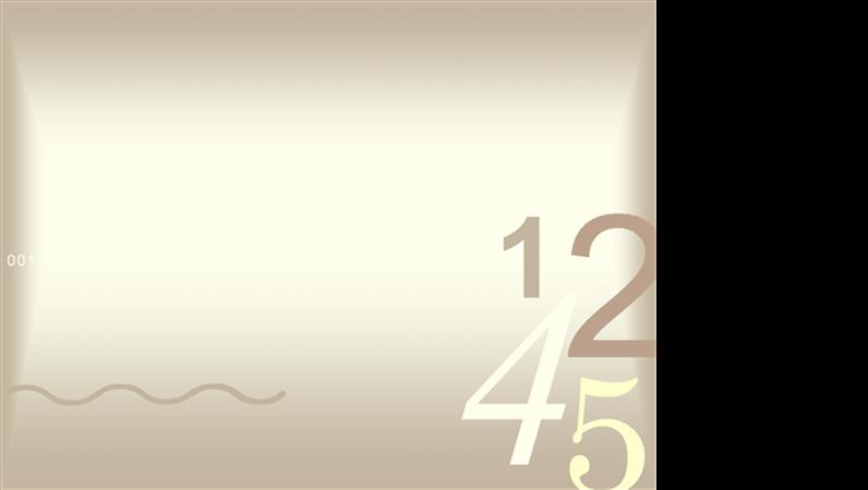 Plantilla de diseño de números