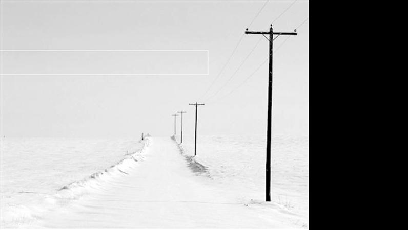 Plantilla de diseño de carretera nevada