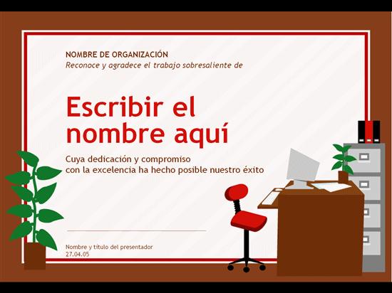 Certificado para profesional de administración