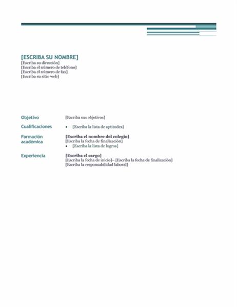 Currículum vitae (tema Urbano)