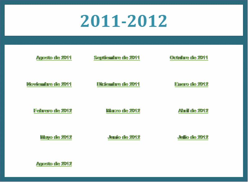 Calendario académico 2011-2012 (Lun-Dom)