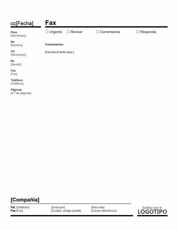Portada de fax rojinegro