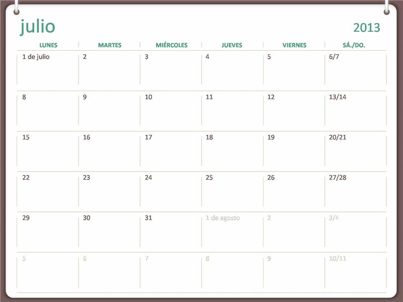 Calendario académico 2013-2014 (julio)