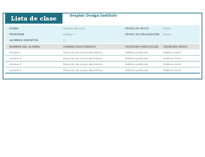 Lista de clase