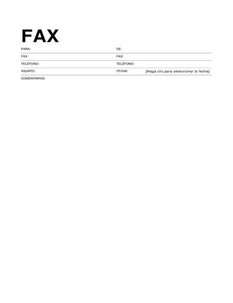 Portada de fax estándar