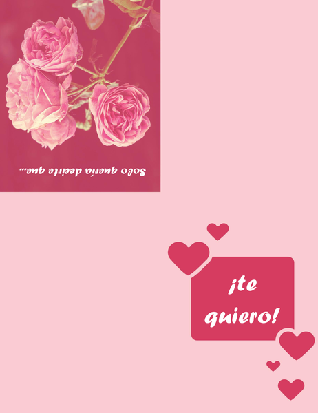 Tarjeta de amor (se dobla en cuatro partes)