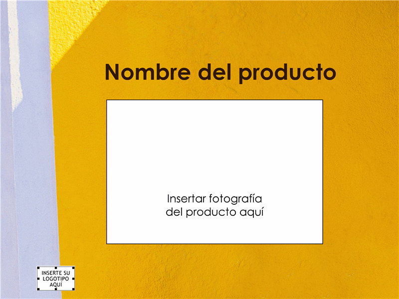 Presentación de información general del producto
