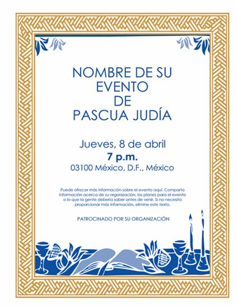 Prospecto para evento de la Pascua judía