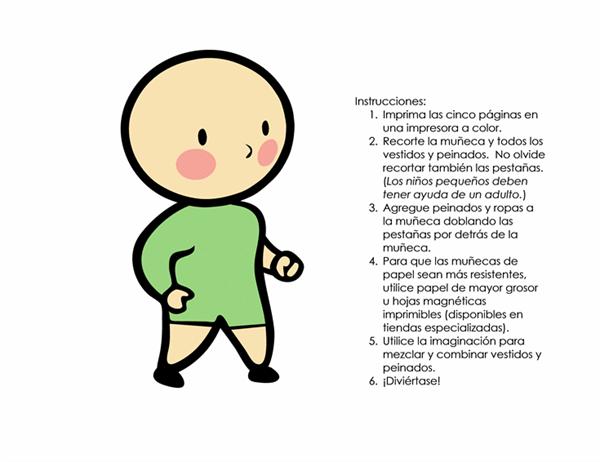 Muñecas de papel (niño, conjunto 3)