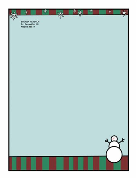 Diseño de fondo de Navidad (con muñeco de nieve)