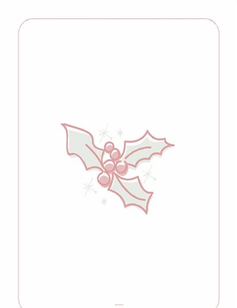 Diseño de fondo de Navidad (con marca de agua de acebo)