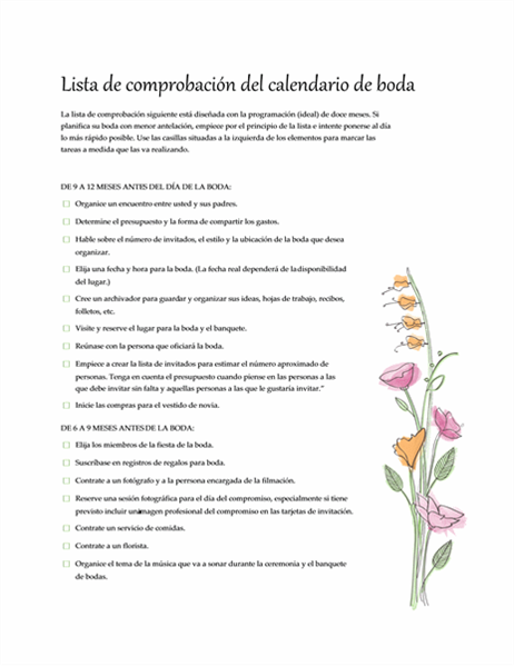 Lista de comprobación (boda)