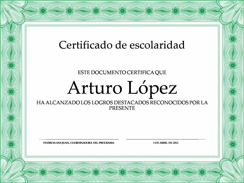 certificados en blanco - Yeni.mescale.co