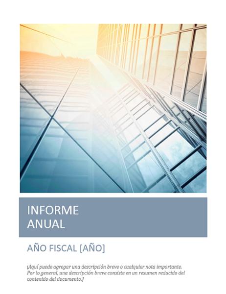 Informe anual (con foto de portada)