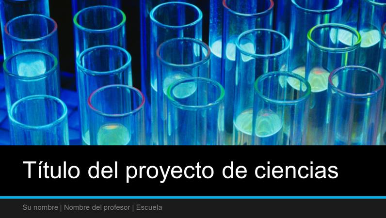 Presentación para el proyecto de ciencias (panorámica)