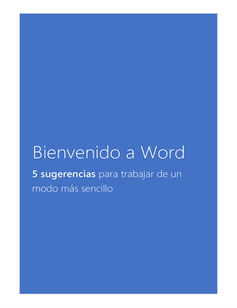 Bienvenido a Word 2013