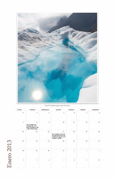 Calendario fotográfico mensual 2013 (L-D)