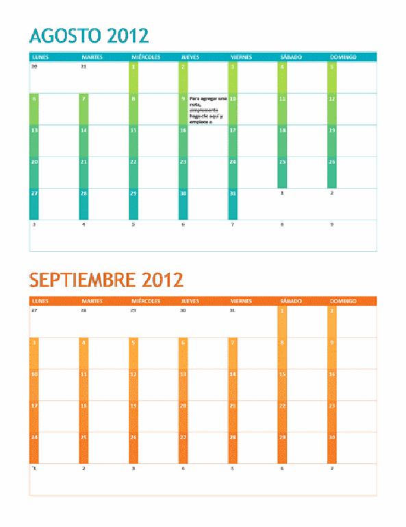 Calendario académico (L-D)