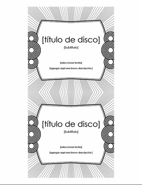 Etiqueta de carátula de CD