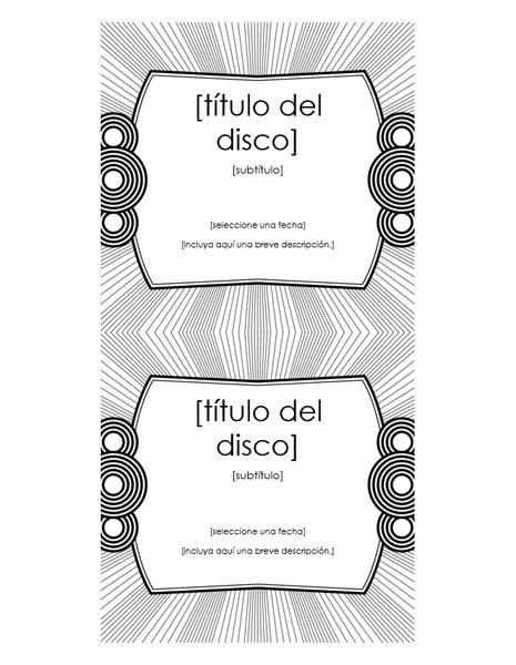 Etiqueta de inserción para CD (funciona con Avery 5693)