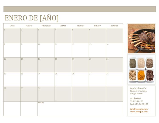 Calendario fotográfico (lunes)