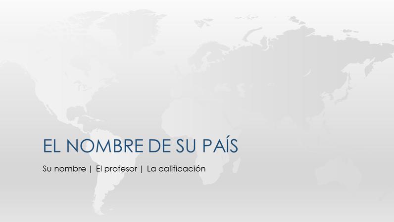Presentación de informe de país