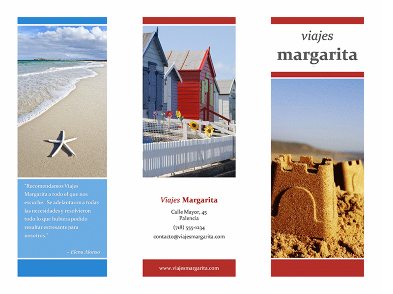 travel brochure template word - folletos