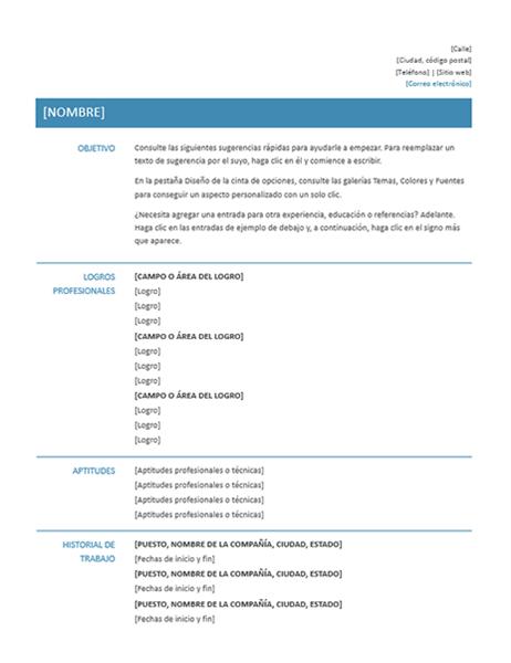 Curriculum Vitae Funcional Diseno Sencillo Office Templates